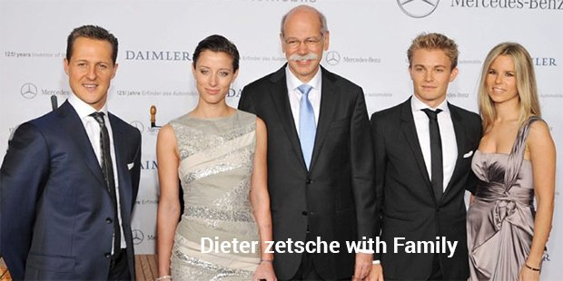 dieter zetsche with family