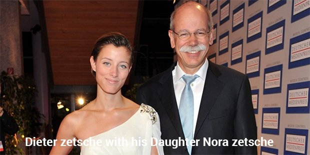 dieter zetsche with his daughter nora zetsche