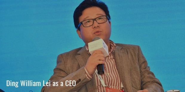 ding william lei as a ceo