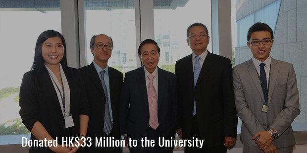 Donated HK$33 Million to the University