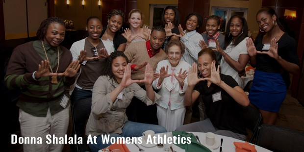 donna shalala at womens athletics