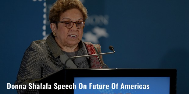 donna shalala speech on future of americas