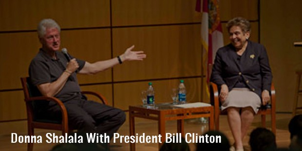 donna shalala with president bill clinton
