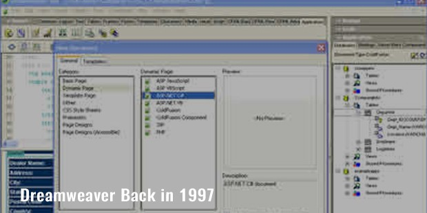 dreamweaver back in 1997