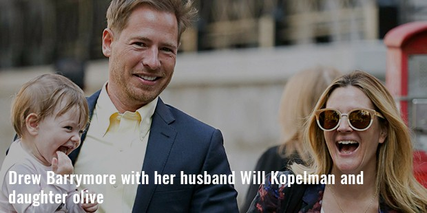 drew barrymore with her husband will kopelman and