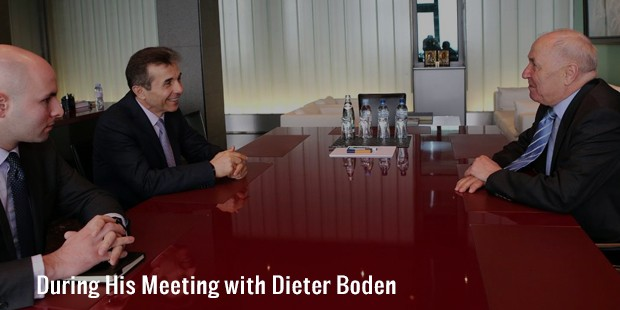 during his meeting with dieter boden