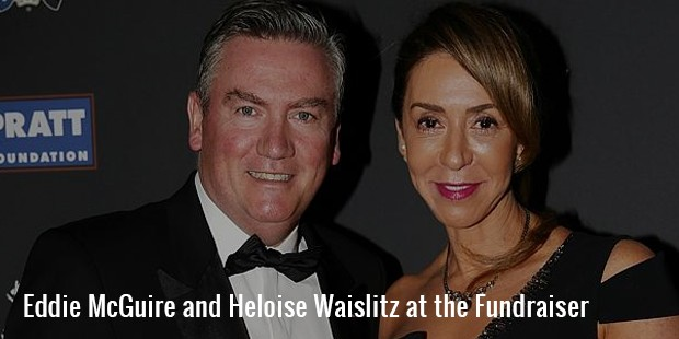 eddie mcguire and heloise waislitz at the fundraiser