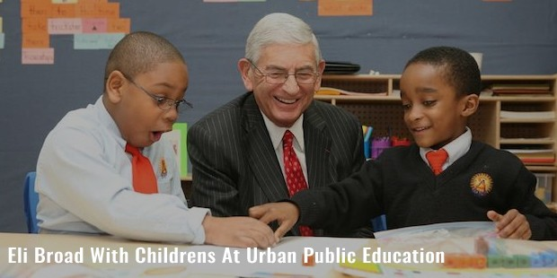 eli broad with childrens at urban public education