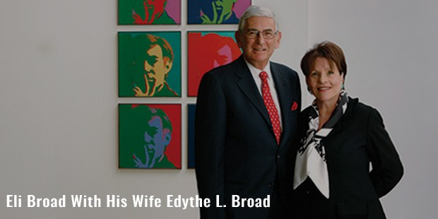 eli broad with his wife edythe l