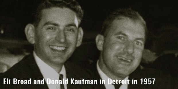 eli broad and donald kaufman in detroit in 1957