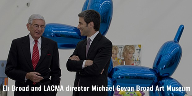 eli broad and lacma director michael govan broad art museum