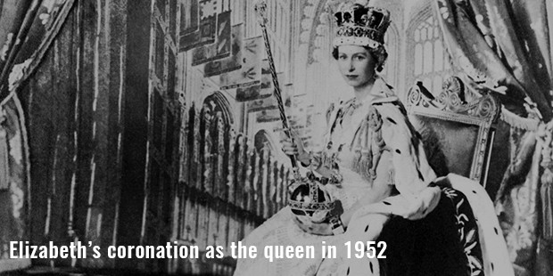 elizabeth's coronation as the queen in 1952
