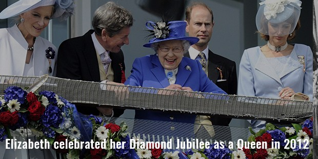 elizabeth celebrated her diamond jubilee as a queen in 2012
