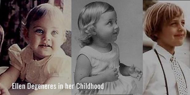 Ellen Degeneres in her Childhood