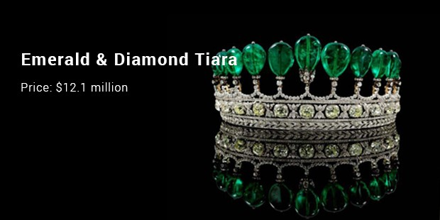 emerald   diamond tiara