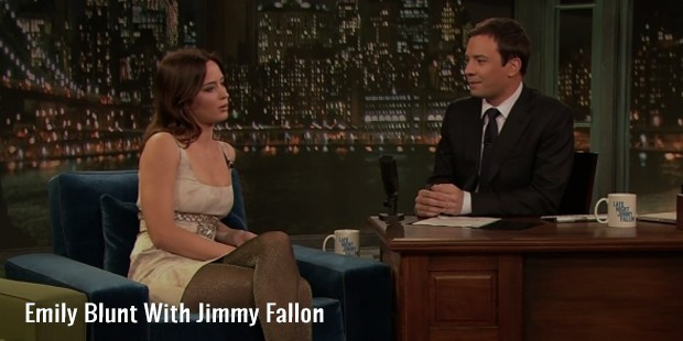 emily blunt with jimmy fallon
