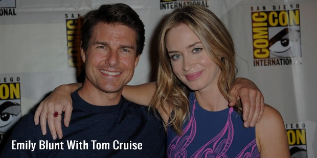 emily blunt with tom cruise