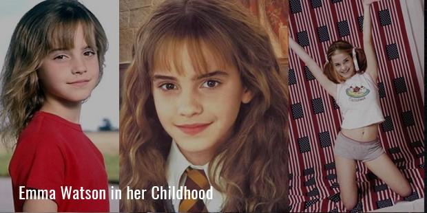 Emma Watson in her Childhood