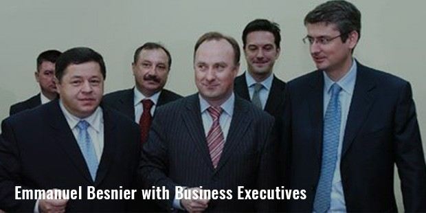 emmanuel besnier with business executives