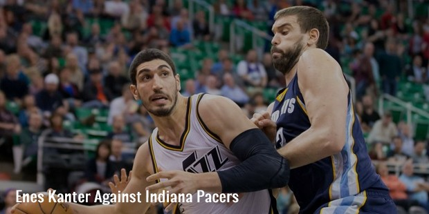 enes kanter against indiana pacers