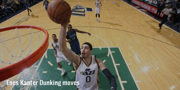 enes kanter dunking moves