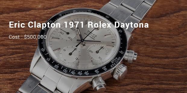 eric clapton 1971 rolex daytona