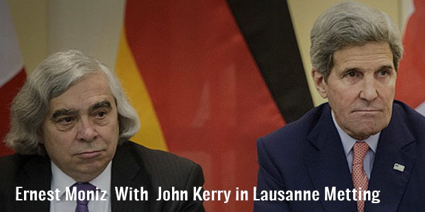 ernest moniz  with  john kerry in lausanne metting