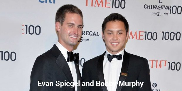 evan spiegel and bobby murphy 1