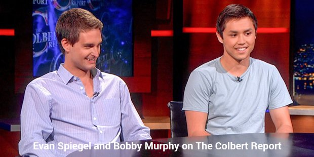 evan spiegel and bobby murphy on the colbert report