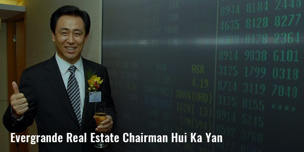 evergrande real estate chairman hui ka yan