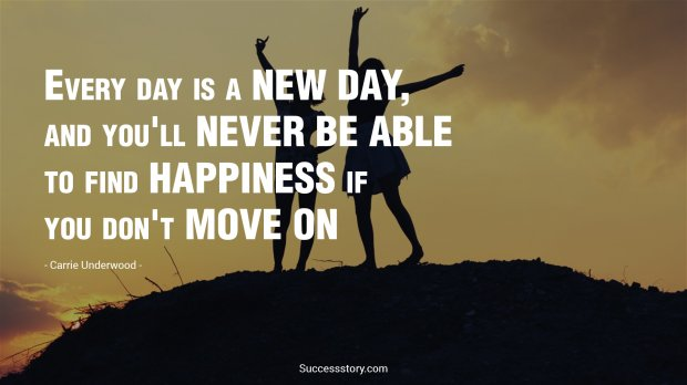 Every day is a new day, and