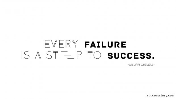 failure is a step to success