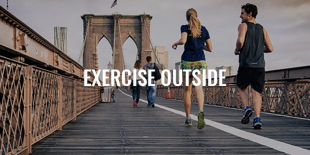 Exercise Outside no Matter the Weather