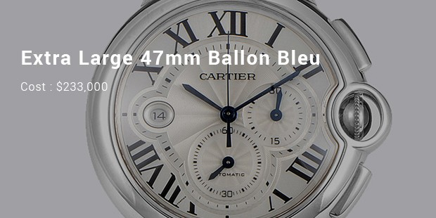 extra large 47mm ballon bleu