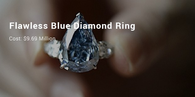 flawless blue diamond ring