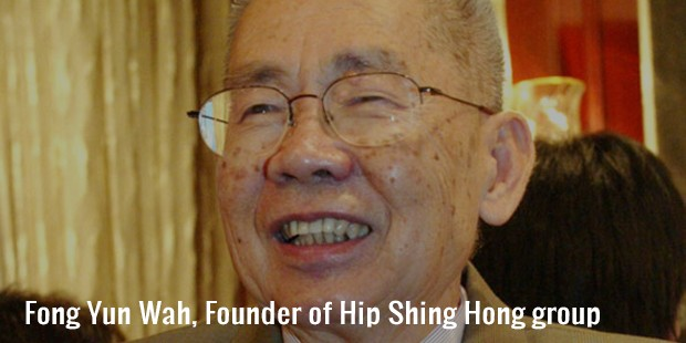 fong yun wah, founder of hip shing hong group