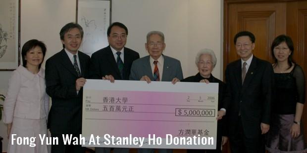 fong yun wah at stanley ho donation