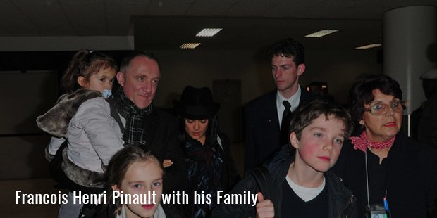 Francois Henri Pinault with his Family