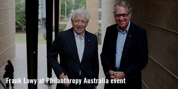 frank lowy at philanthropy australia event