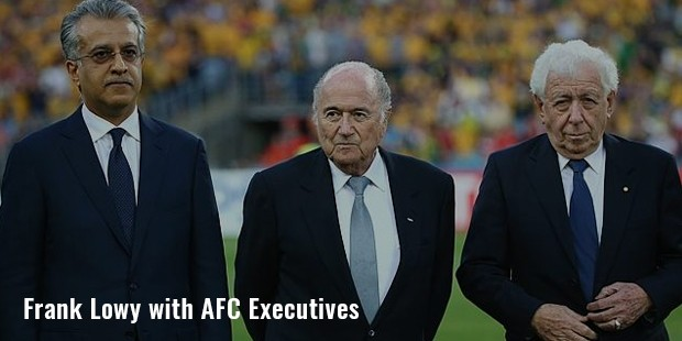 frank lowy with afc executives