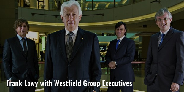 frank lowy with westfield group executives