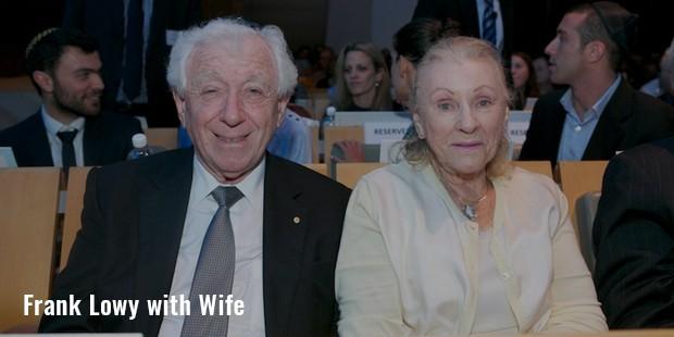 frank lowy with wife