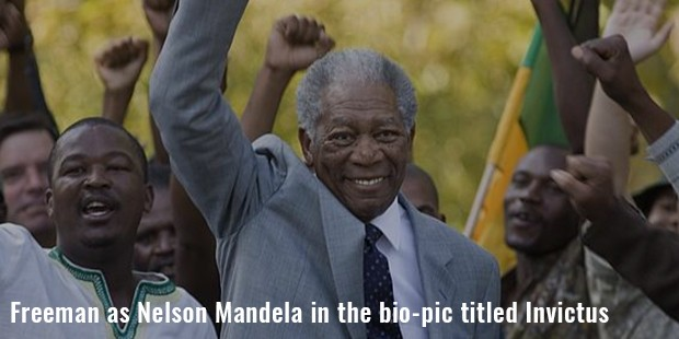 freeman as nelson mandela in the bio pic titled invictus