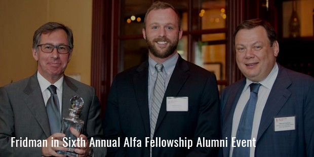 fridman in sixth annual alfa fellowship alumni event