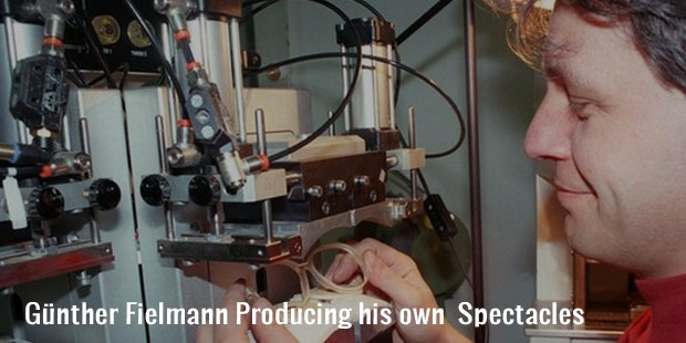 günther fielmann producing his own  spectacles