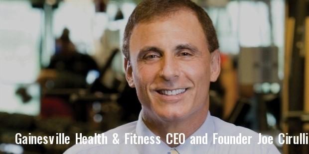 gainesville health   fitness ceo and founder joe cirulli