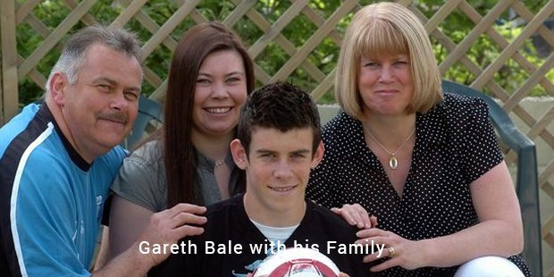 gareth bale with family