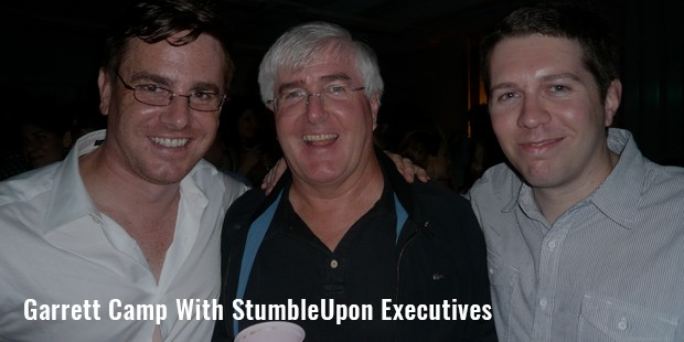 garrett camp with stumbleupon executives