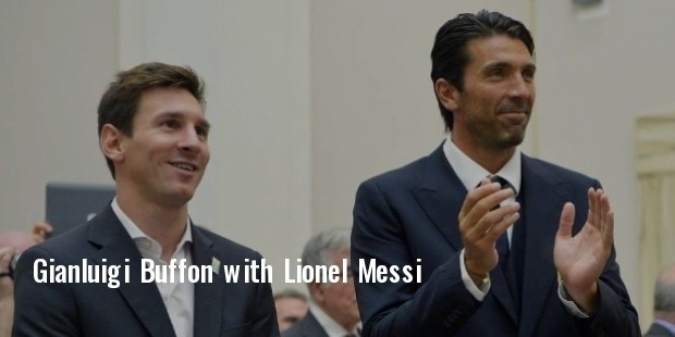 gianluigi buffon with lionel