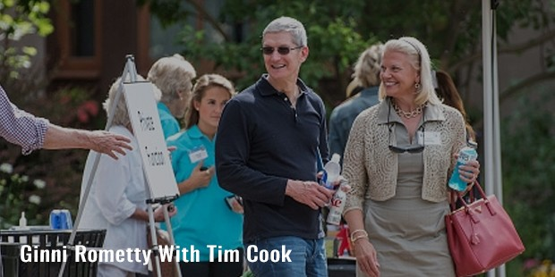 ginni rometty with tim cook